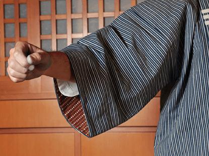 鯉口シャツの袖口
